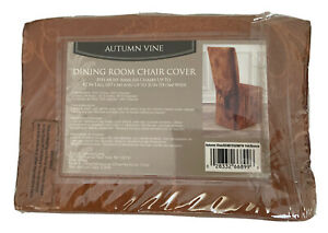 """Bronze Autumn Vine Dining Room Chair Cover-Fits Up to 42"""" Tall x 21"""" Wide"""
