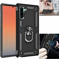 Samsung Galaxy Note10 case with Kickstand - Metal Back Ring for Magnetic Car Mou
