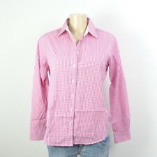 GANT Business Bluse Vichy Karo Pink Weiß Gr. 40 (DG90)