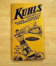vintage Booklet & Composite Boat Chart FRED KUHLS SEAM COMPOSITIONS GLUES c.1930