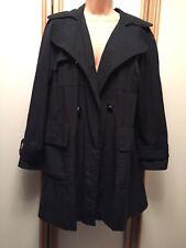 ❤️ M&S Classic Black Mack Coat Jacket Size 10 ❤️