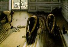 The Floor Strippers by Gustave Caillebotte  Fine Art Giclee Canvas Print