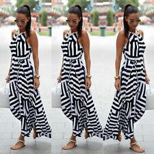 Sexy Women Summer Boho Maxi Long Evening Party Beach Dress Chiffon Sundress 6-16
