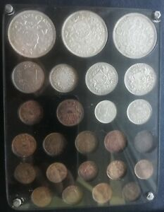 Latvia 1922 - 1939 full coin set with all 25 silver bronze and nickel coins  !