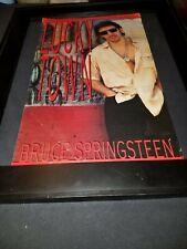 Bruce Springsteen Lucky Town Rare Original Promo Poster Ad Framed! #2