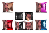Funny DWIGHT SCHRUTE Reversible Cushion Covers! THE OFFICE Sequined 40cm Gift UK