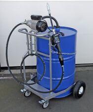 Fahrbare Ölanlage mobiles Ölabgabegerät Ölpumpe Digitalzählwerk 60-200l Faß