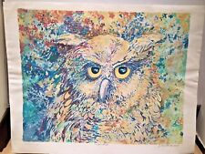 CHARLOTTE SHERMAN LIMITED EDITION SIGNED LITHOGRAPH THE OWL - NIGHT BIRD