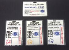 Vintage Star Trek:Next Generation Boarding Pass/ID Card Laminated Set of 4 Cards