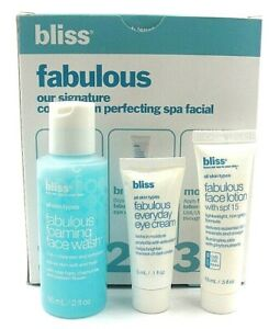 Bliss Starter Sem Fabulous Complexion Perfecting Spa Facial Cleanse Brighten15ml