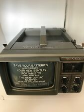 "Bentley Deluxe Portable TV 5"" Black & White Television B&W Battery Power Vtg New"