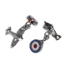 Royal Airforce Spitfire Plane & Roundel Cufflinks RAF Pilot Present Gift Box