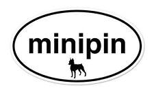 """Miniature Pinscher Dog Breed Shape Oval car window bumper vinyl sticker 5"""" x 3"""""""