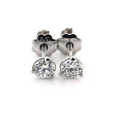 0.40 CT Natural Round Diamond Martini Style Stud Earrings VS1/F 14K White Gold