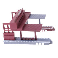 1:87 Scale Train Station Model Gauge Models Railway Diorama Scenery Layout