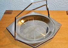 Lovely Vintage Old Hall Stainless Steel Cake Sandwich Plate with Carry Handle