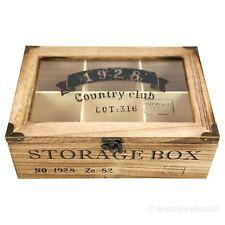 Storage Box Aufbewahrungskiste Schatulle für Kleinteile Holz Shabby Retro Look
