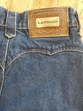 Vintage Lawman High Waist Mom Jeans Denim Juniors Straight Slim Fit Dark New