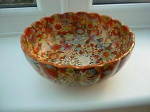 Antique Japanese Satsuma Millefiori Bowl Signed Meiji period in Great Condition
