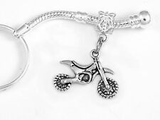 Dirt bike key chain motor cross biker charm motorcycle best jewelry gift