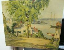 "CAMILLO ADRIANI ""FISHERMAN'S COTTAGE 1960"" VINTAGE COLOR LITHOGRAPH UNFRAMED"