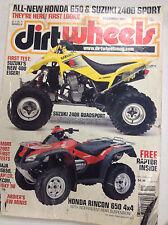 Dirt Wheels Magazine Suzuki 400 Eiger & Z400 Quad December 2001 062017nonr