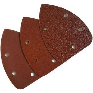 Palm Sander Pads. Detail Palm Sanding Pads triangle sheets P40 P80 P120 grit