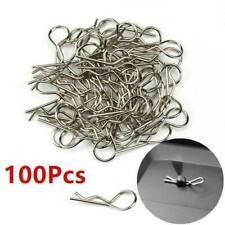 100pcs Stainless Steel Body Shell Clips Pin for RC 1/10 Model Car HSP Redcat AU