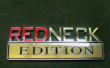 """Chevrolet Chrome """"REDNECK EDITION"""" Logo Fender Emblem Badge Moulding Decal Trunk"""