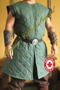 Medieval Armor Viking Larp Long Sleeveless Gambeson Deluxe