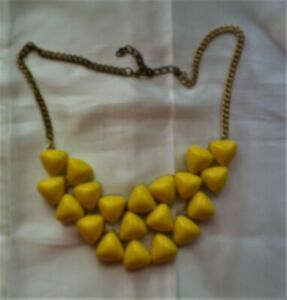 Yellow on Gold Tone Necklace #jewelry #fashion #necklace