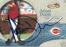 Adam Dunn Signed Auto 2001 Fleer Futures Cincinnati Reds Rookie Card - COA - MLB