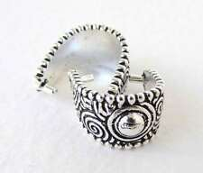 Pinch Bail TierraCast Antiqued Silver Ox Spiral Large Pendant Beaded Finding