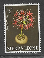 SIERRA LEONE 1963 QE11 DEFINITIVE SERIES - MINT 1/2d STAMP, FLOWERS - LILY