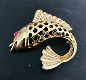 Grosse Leaping Fish Brooch