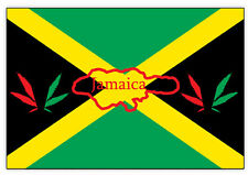 "Bob Marley Jamaica flag sticker decal 5"" x 3"""