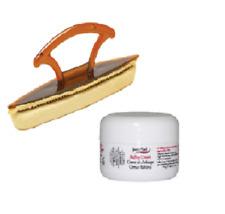Supernail Nail Buffing Cream 0.5oz with Chamois Buffing Buffer 7 inch Combo