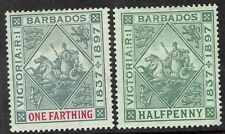 BARBADOS 1897 QV JUBILEE 1/4D AND 1/2D