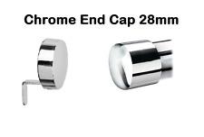 Speedy Poles Apart 28mm End Cap Curtain Pole Finials, CHROME, 2 Pack, FREE P&P!!