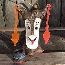Tiki Diablo Bob o Roa Tiki Mug & Mini Tiki Drum Light / Two Tiki Baby Swizzles