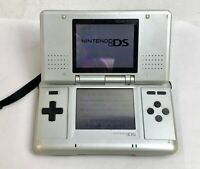 Nintendo DS Platinum Silver Console w/touch pen Tested WORK Japan Fedex