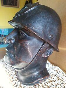 Statua scultura bronzo/ferro fusione a cera persa antica.