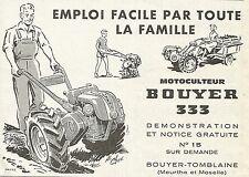 W5462 BOUYER 333 Motocolteur - Bouyer Tomblaine - Publicitè 1961