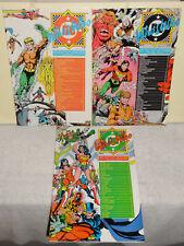DC Comics WHOS WHO 3 BOOK LOT VOL 1 24 26 WONDER WOMAN AQUAMAN VF 1985
