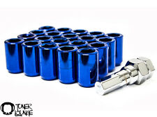Z RACING INNER HEX BLUE STEEL ROUNDED TUNER 20 PCS 12X1.5MM LUG NUTS WITH KEY