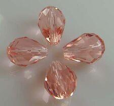 15-150 PCS 12x8mm Teardrop Shape Tear Drop Glass Faceted Loose Crystal Beads