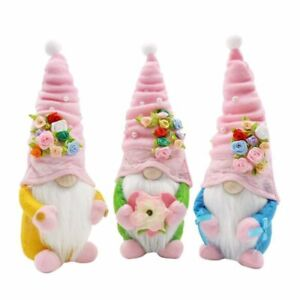 Easter Flower Gnome Decoration Faceless Doll Dwarf Home Decoration Ornaments#
