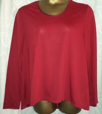 Ladies plus size long sleeve tops, black size 20, red size 22