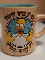 "Homer Simpson ""You Fry It, I'll Eat It"" Ceramic Mug - 2008 The Simpsons"