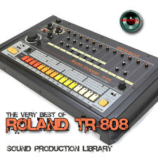for Roland Tr-808 Original very useful 24bit Wave Studio Samples Library on Dvd